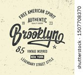 """the brooklyn. new york"".... | Shutterstock .eps vector #1507708370"