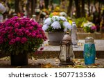 Tombstones Decorated With...