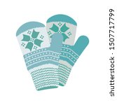 pair of warm mittens icon in...   Shutterstock .eps vector #1507717799