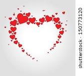 big heart from little red... | Shutterstock .eps vector #150773120