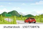 car travel  road trip flat... | Shutterstock .eps vector #1507738976