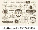 vintage typographic design... | Shutterstock .eps vector #1507745366