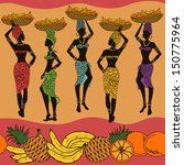 colorful african seamless...   Shutterstock .eps vector #150775964