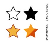 star icon. with outline  glyph  ...