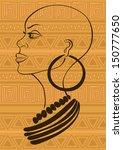 outline portrait of beautiful...   Shutterstock .eps vector #150777650