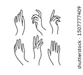 woman's hand icon collection... | Shutterstock .eps vector #1507777409