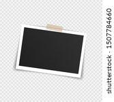 vector photo frame mockup...   Shutterstock .eps vector #1507784660