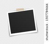 vector photo frame mockup... | Shutterstock .eps vector #1507784666