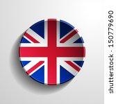 united kingdom 3d round button | Shutterstock . vector #150779690