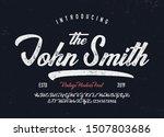 vintage brush script modern... | Shutterstock .eps vector #1507803686