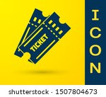 blue ticket icon isolated on...   Shutterstock .eps vector #1507804673