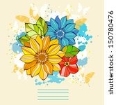 design element with flowers and ... | Shutterstock .eps vector #150780476