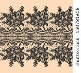 seamless pattern black lace | Shutterstock .eps vector #150781658