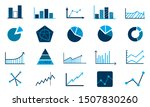 set of charts and diagrams icon ... | Shutterstock .eps vector #1507830260