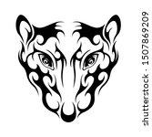 rat head abstract celtic tattoo ... | Shutterstock .eps vector #1507869209