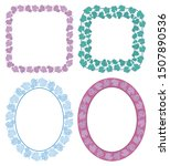 square and oval decorative... | Shutterstock . vector #1507890536