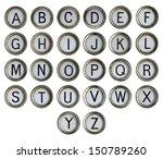Alphabet   Typewriter Keyboard...