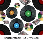 seamless background with vinyl... | Shutterstock .eps vector #150791828