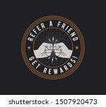 refer a friend badge design.... | Shutterstock .eps vector #1507920473