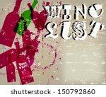 wine list menu card design ... | Shutterstock .eps vector #150792860