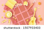 top view of picnic in the park... | Shutterstock .eps vector #1507933403
