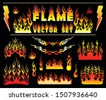 flame and fire vintage... | Shutterstock .eps vector #1507936640