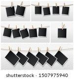 set of blank photo frame set...   Shutterstock .eps vector #1507975940