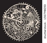 cogs and gears of clock. | Shutterstock .eps vector #150798050
