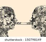 debate. the science of...   Shutterstock .eps vector #150798149