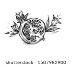 black and white illustration of ... | Shutterstock . vector #1507982900
