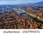 Stock photo drone view of the beautiful and historical italian city firenze italy 1507994573