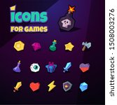 icons set for 2d games.