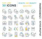 set of linear icons with... | Shutterstock .eps vector #1508006846