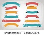 vector colorful ribbons | Shutterstock .eps vector #150800876