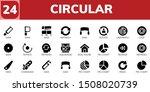 circular icon set. 24 filled...