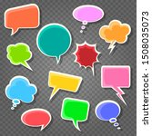 set of colorful comic speach... | Shutterstock .eps vector #1508035073