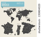 vector basics  worldmap and... | Shutterstock .eps vector #150804020