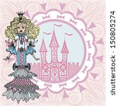 princess and palace illustration | Shutterstock . vector #150805274