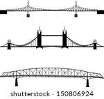 set of bridge silhouette | Shutterstock .eps vector #150806924