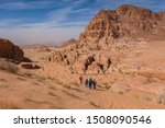 Hikers On A Trail In The Wadi...