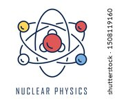nuclear physics color icon.... | Shutterstock .eps vector #1508119160