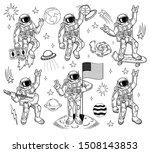 space set bundle engraving... | Shutterstock .eps vector #1508143853