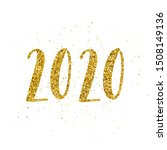happy new 2020 year poster with ...   Shutterstock .eps vector #1508149136