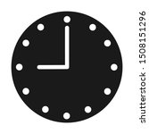 clock icon vector  filled flat...