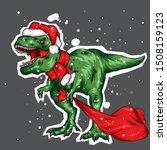 Dinosaur. Bright Vector...