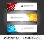 vector abstract design banner...   Shutterstock .eps vector #1508163140