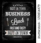 chalkboard business lunch... | Shutterstock .eps vector #150816479