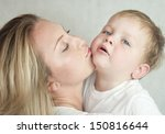 happy cheerful family. mother... | Shutterstock . vector #150816644