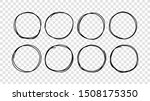 hand drawn circles sketch frame ...   Shutterstock .eps vector #1508175350