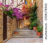 mediterranean summer cityscape  ... | Shutterstock . vector #1508178503